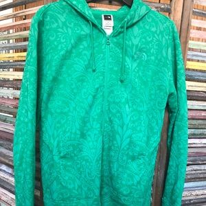 Green The North Face jacket